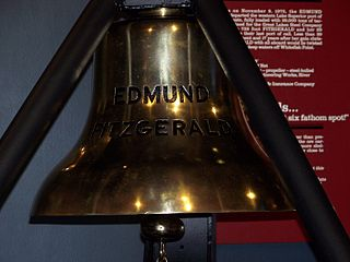 The bell from the SS Edmund Fitzgerald